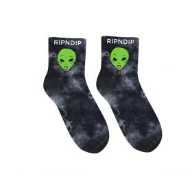 RND4773 We Out Here Mid Socks - Black Lightning Wash - OS