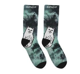 RND4771 Lord Nermal Socks - Green Tie Dye - OS