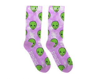 RND4769 We Out Here Socks - Pink Lightning Wash - OS