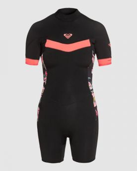 Wetsuits Non Sms Push 2/2 Syncro Bz Ls Sp Q-Lck - Black/Bright Coral