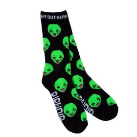 RND0124 We Out Here Socks - Black - One size