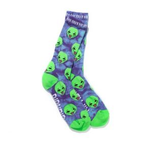 RND0754 We Out Here Socks - Purple Tie Dye - One size