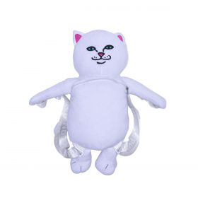 RND4618 Lord Nermal Plush Backpack - White - OS