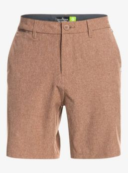 Shorts Quiksilver - EQYWS03654 Union Heather Amphibian 19 - Root Beer