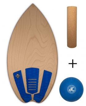 Balance Board Balance Pro - The Classic - Natural - ROYAL BLUE (Board with Ball + Roll)
