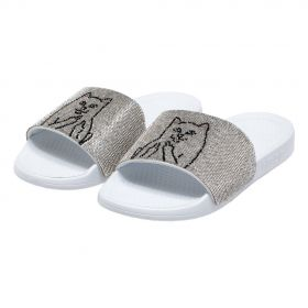 RND5030 Lord Nermal Slides - Rhinestone White