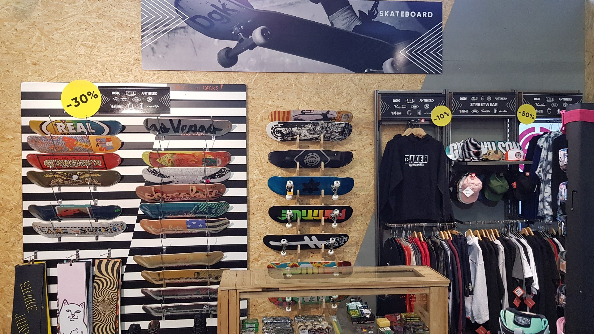 Selection de skateboards